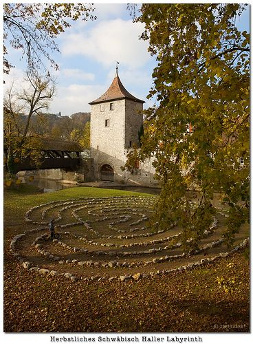 Labyrinth made from stones. Would love to do this in my backyard.