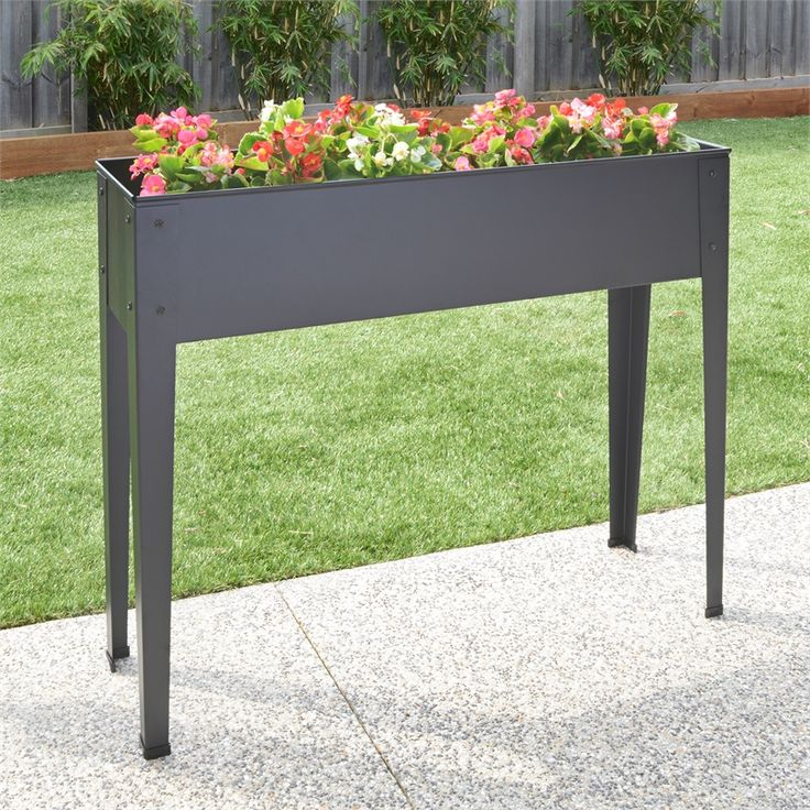 Pinnacle 1020 x 265 x 800mm Charcoal Raised Garden Planter