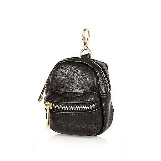 Black mini backpack keyring - bag accessories - bags / purses - women