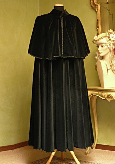 Velvet Cape for Men - Handmade in Venice, Italy - Very Warm