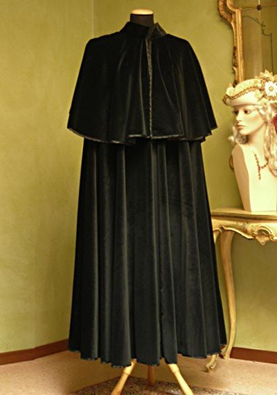 Velvet Cape for Men - Handmade in Venice, Italy - Very Warm