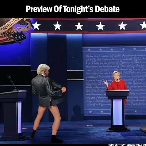 Debate preview...lmao!!! THIS might be the only way Trump will sidetrack Hillary ;)