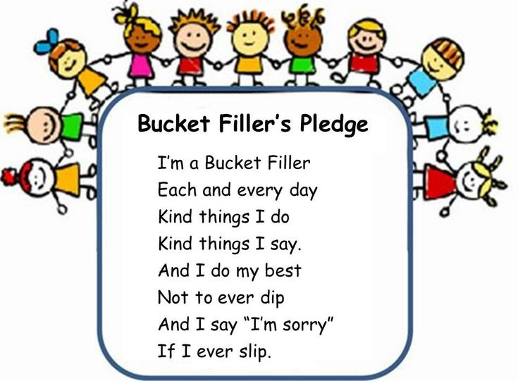 "Bucket Filling Activities. LOVE this ""Bucket Filler's Pledge""."