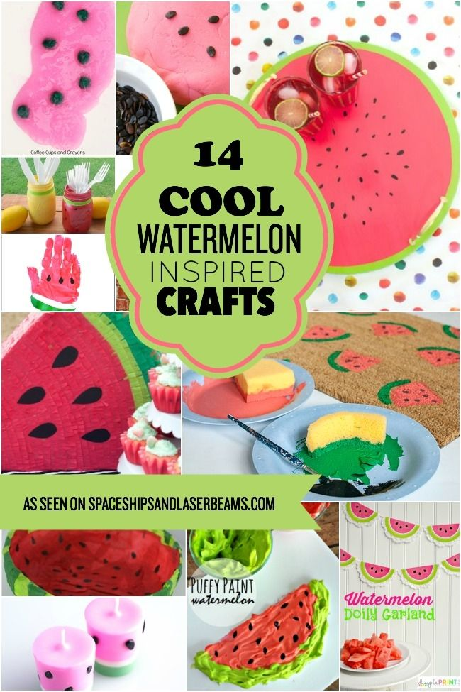 14 Cool Watermelon Inspired Crafts