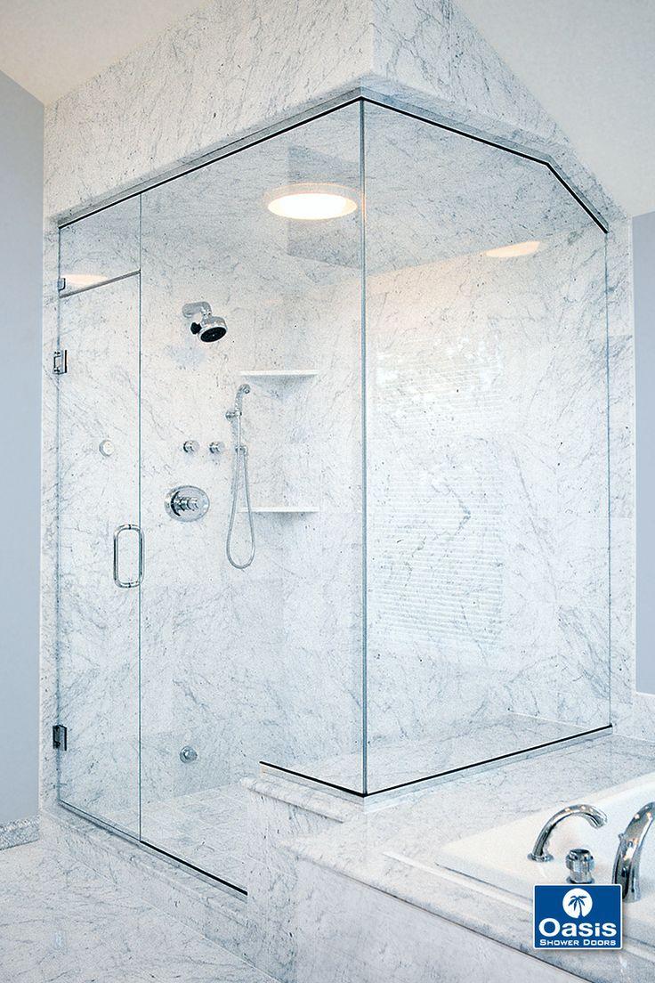 12 best images about custom frameless shower enclosures on for Custom transom