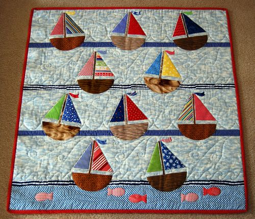 Nautical Themed Quilt Patterns | The Regatta Quilt