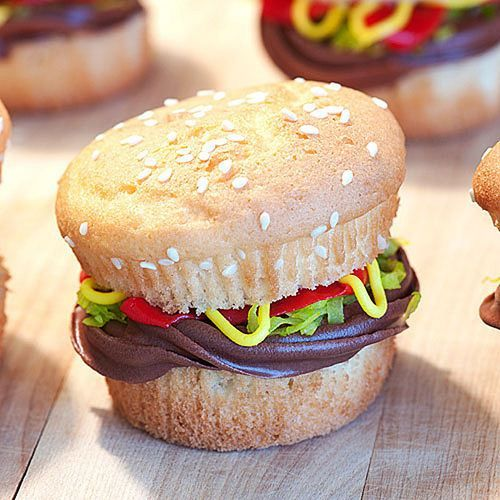 Good idea! Burger cupcake I'm doin this when i go on cupcake wars