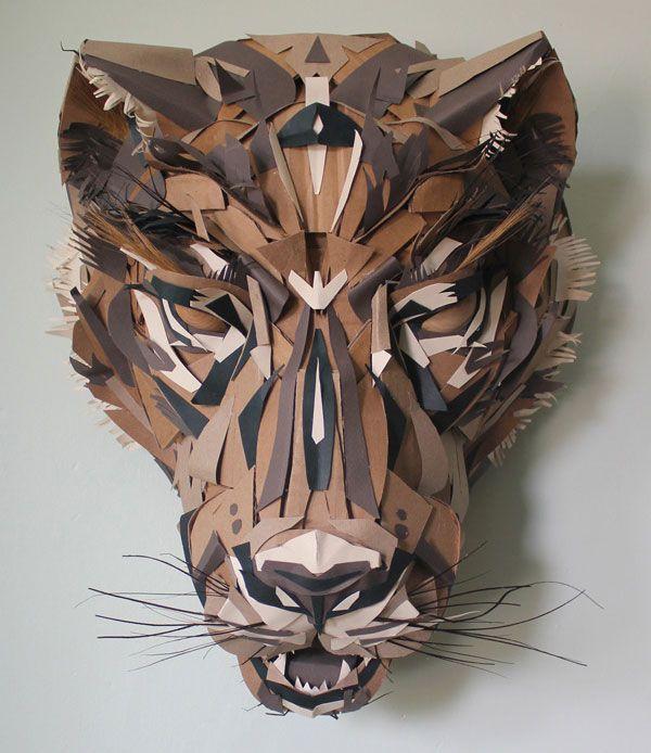 Jaguar Paper Mask by Jacqui Oakley