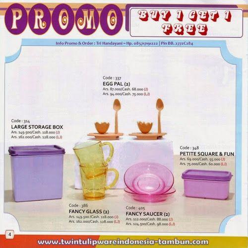 Promo Buy 1 Get 1 Free #Tulipware | Mei - Juni 2014