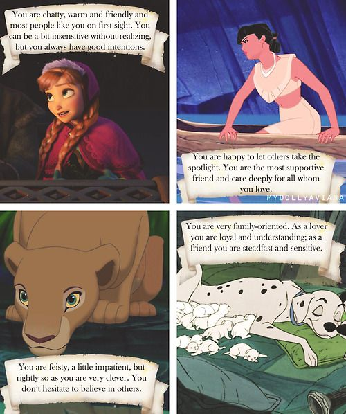 What your favorite Disney female says about you!