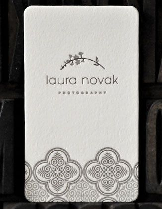 beautiful business card-laura novak photography