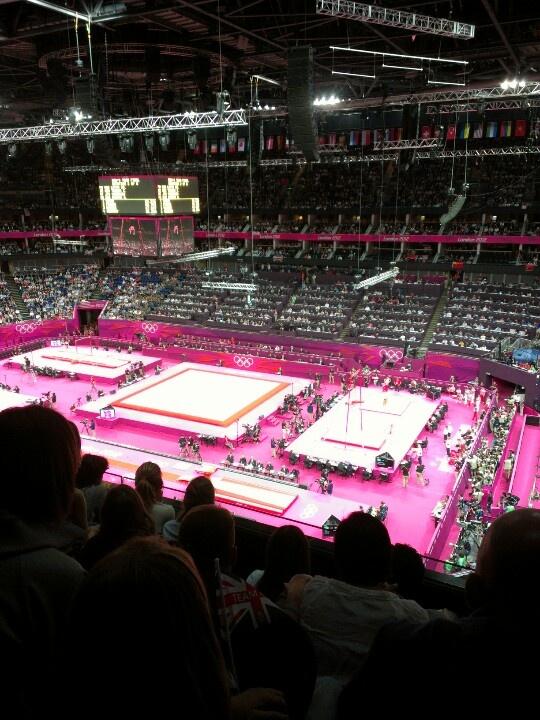 O2 Arena during the Olympics 2012. Men's Team Gymnastics Final :)