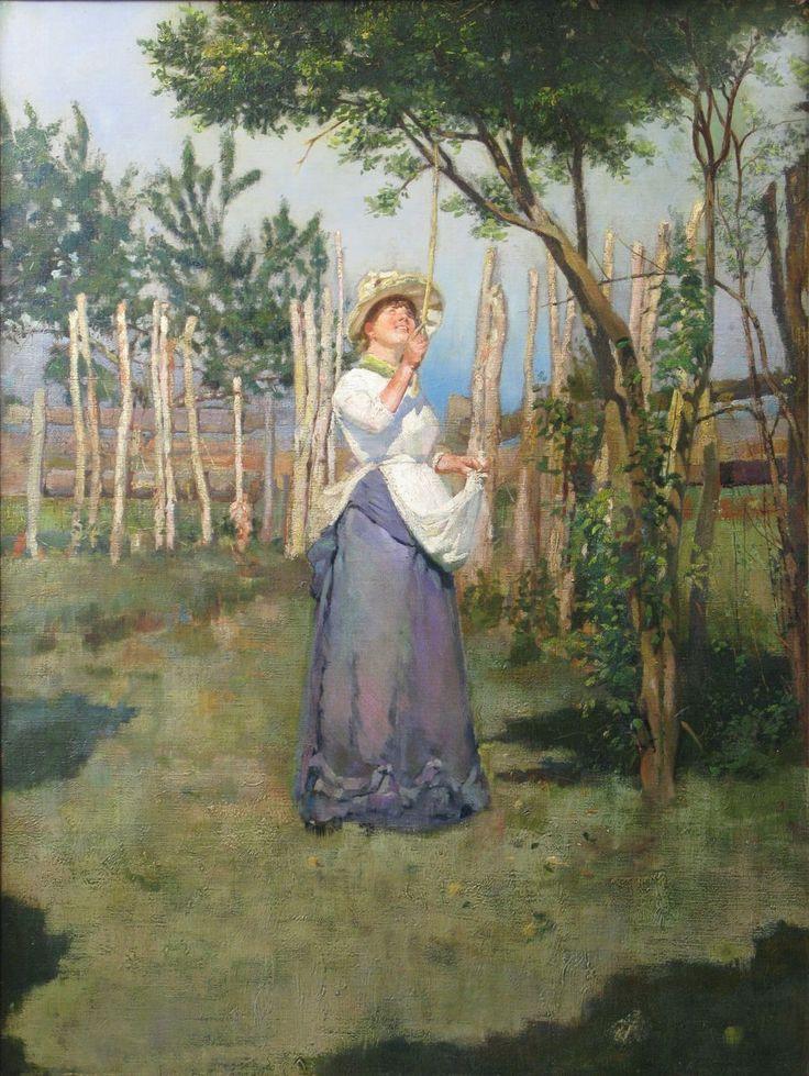 Italian Macchiaioli School (end 19th c. Tuscany) - The Olive Picker - Unsigned (Circle of Giovanni Fattori, 1825-1908)