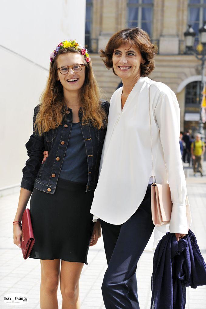 Easy Fashion: Inès de la Fressange et Violette / Place Vendôme /...