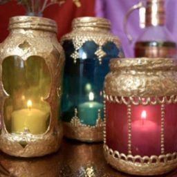 Я - суперпупер марокканский светильник из стеклянных баночек