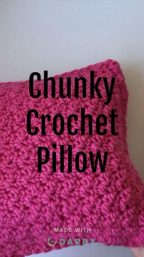 DIY This Easy Chunky Crochet Pillow