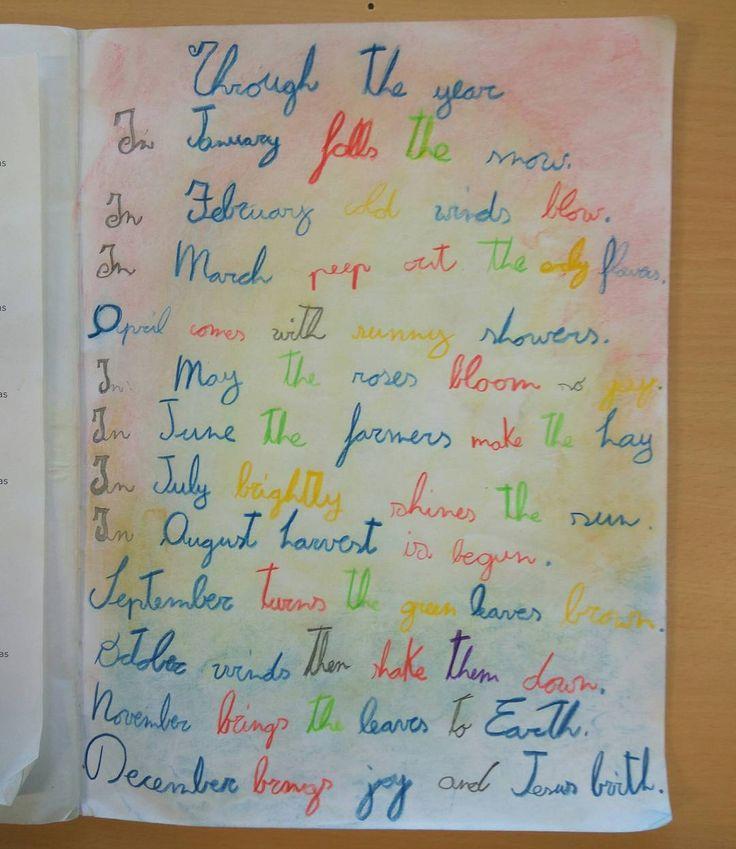 #poesia dei #mesi in #quartaclasse #inglese #english #learningenglish #englishasasecondlanguage