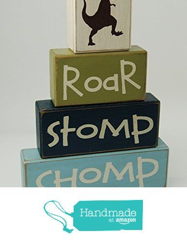 Roar-Stomp-Chop-Dinosaur Theme - Primitive Country Wood Stacking Sign Blocks Dinosaur Room Decor, Dinosaur Birthday-Dinosaur Baby Shower-Dinosaur Nursery Home Decor from Blocks Upon A Shelf http://www.amazon.com/dp/B017PQJR5U/ref=hnd_sw_r_pi_dp_mHJgxb0JG0VD2 #handmadeatamazon