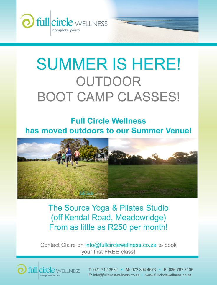 Summer is here! Get ##fit and beach ready with Full Circle Wellness! #fullcirclewellness #outdoor #bootcamp #fitness
