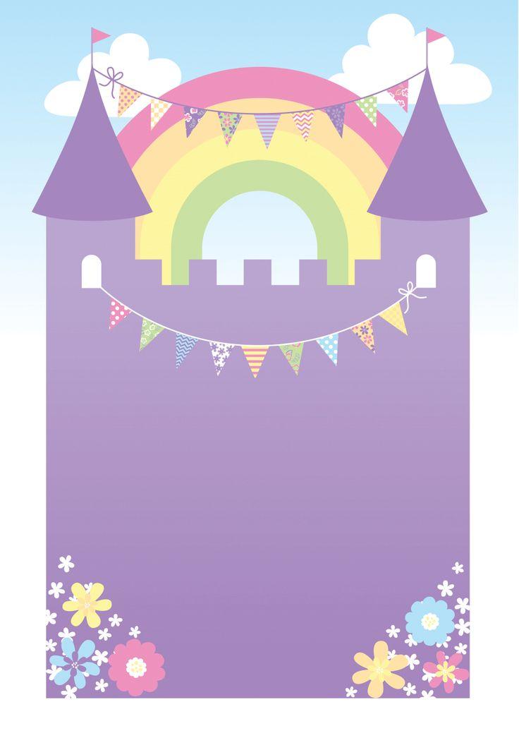 Purple Castle - Free Printable Birthday Invitation Template | Greetings Island