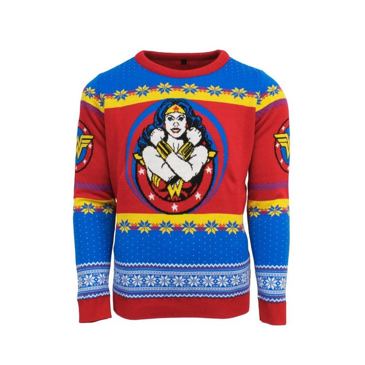 Official Wonder Woman Christmas Jumper / Ugly Sweater | Free UK Delivery | Yellow Bulldog