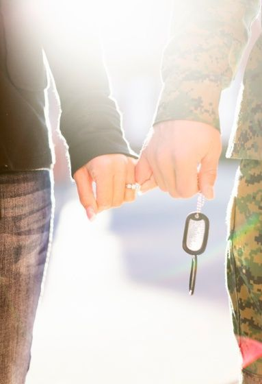 Not the military tags of course haha but I LOVE the pinky promise pic that shows the ring :)