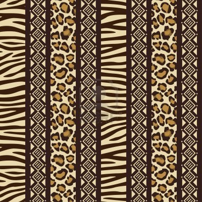 African style seamless with wild animal skin patterns