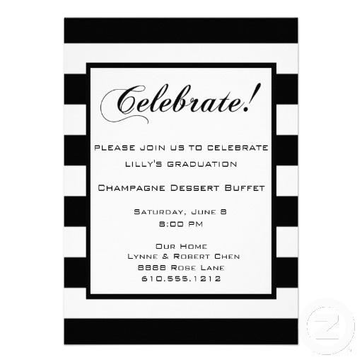 Best Birthday Invitations Images On Pinterest Birthday - Black and white striped birthday invitations