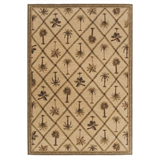 Tommy Bahama Home Rugs Beige Palms Away Transitional Rug