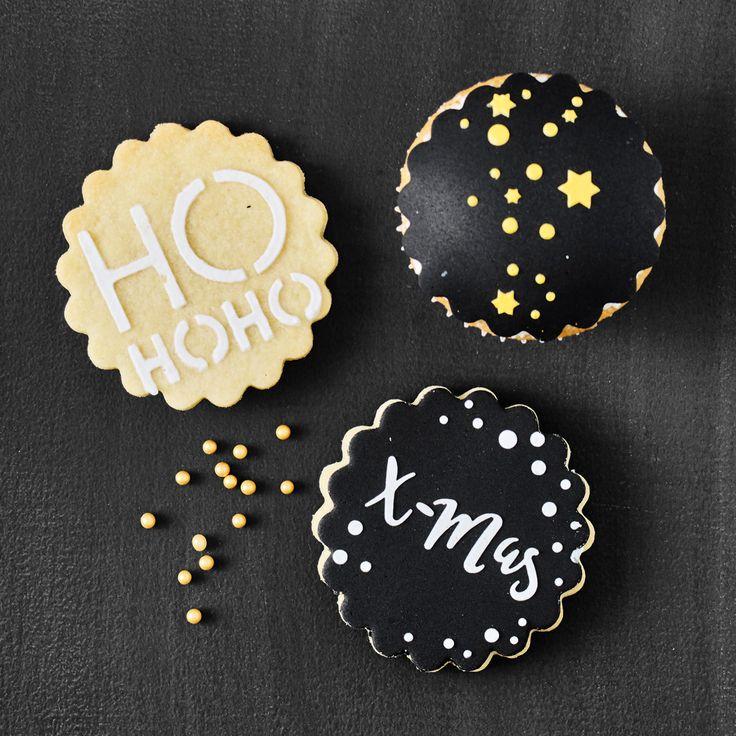 Szablon do dekorowania ciasteczek z foremką w zestawie - komplet 6 szt.   BIRKMANN CHRISTMAS GLAMOUR    