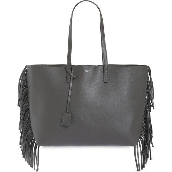 15a2cab0c24 Saint Laurent Women Saint Laurent Fringed Leather Tote Bag ( 960) ❤ liked  on Polyvore