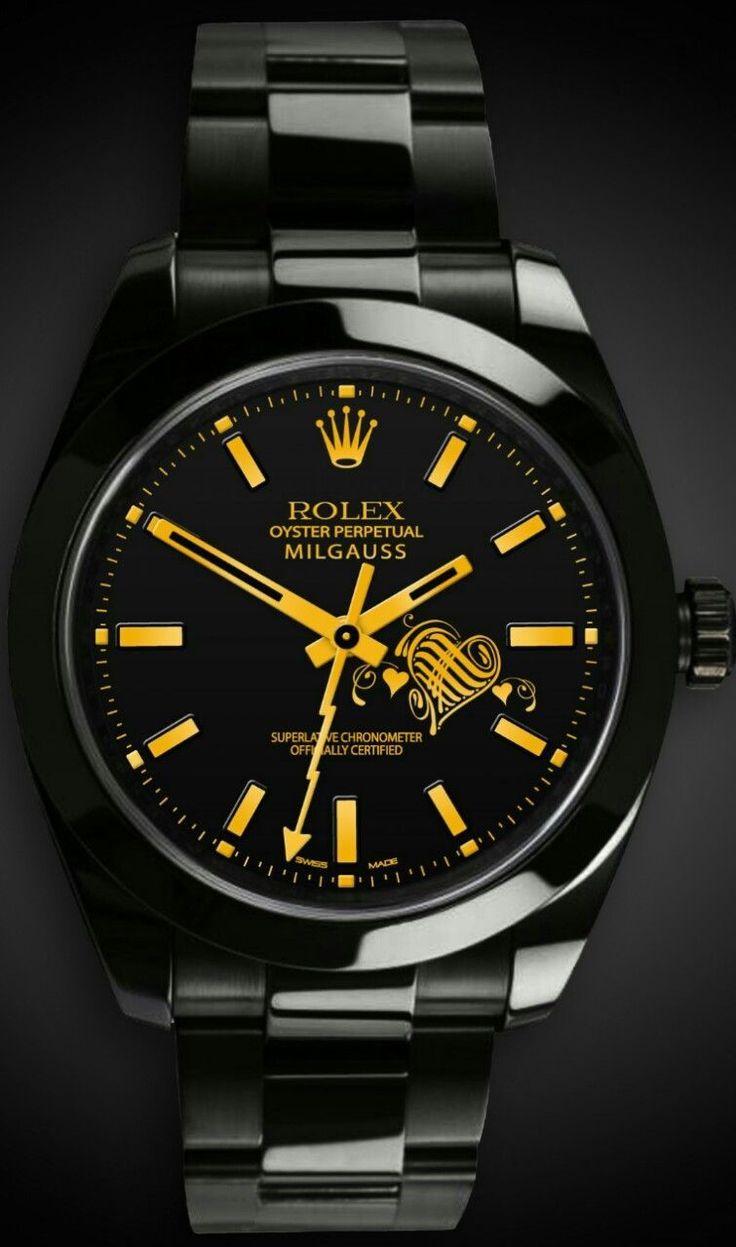 8baa1ba8aae05 Exquisite-Rolex Mens watch Oyster perpetual.Titan Black  watch  rolex  black