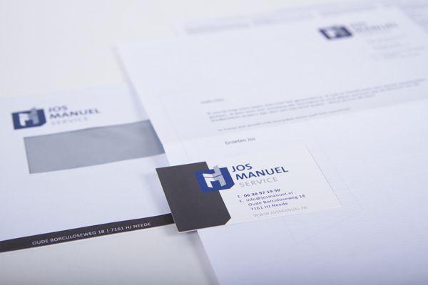 Ontwerp logo en huisstijl Jos Manuel Service.