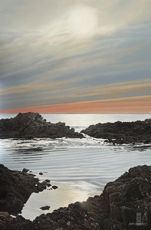"Ron Parker - Ucluelet Evening - oil on canvas - 30"" x 20"""