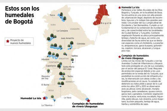Proponen crear dos nuevos humedales en Bogotá