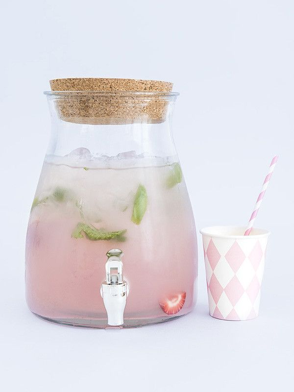 This is so cute for a party. I haven't seen one this style before - Glass drinks dispenser