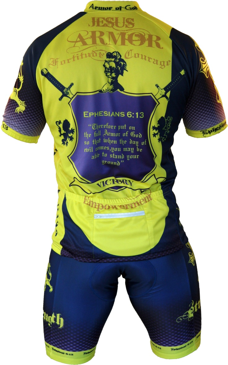 Men's Armor of God Cycling Jersey | Cycling | Pinterest ...