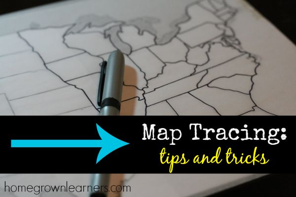 Map Tracing Tips and Tricks for Your Homeschool Day