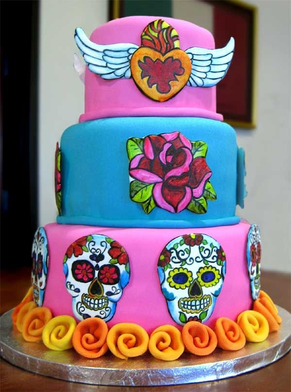 sugar skull wedding cake 77 best images about dia de los muertos on 20588