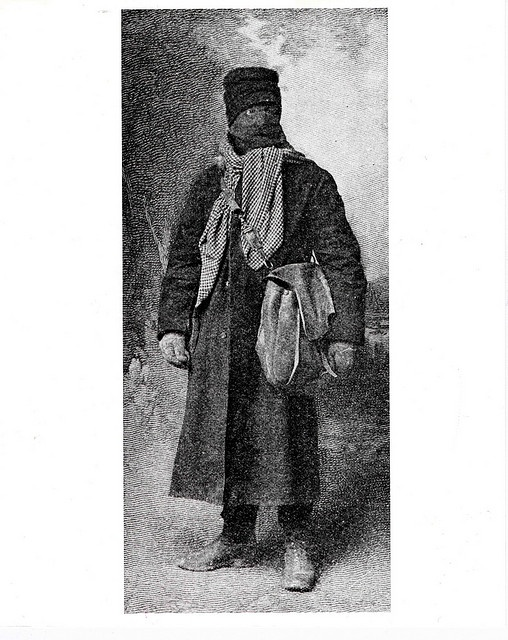 Unidentified rural letter carrier in his cold weather gear by Smithsonian Institution, via Flickr