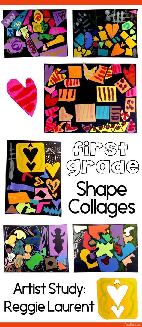 Shape Collages by 1st Grade