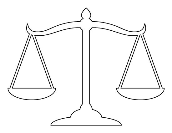 scales of justice pattern  use the printable outline for