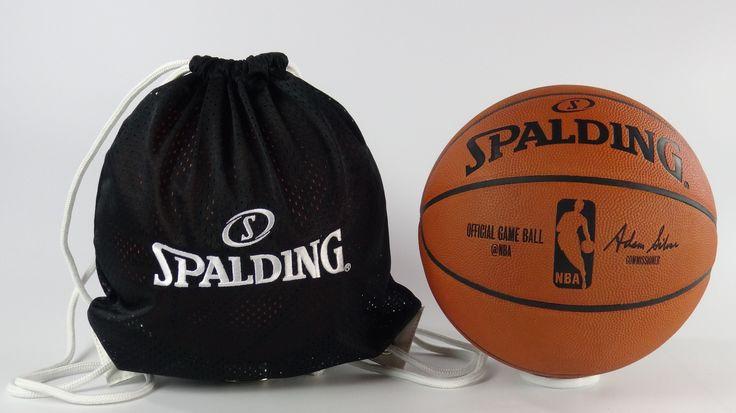 Balón oficial de juego NBA. Spalding de cuero. Con bolsa para el balón. www.basketspirit.com