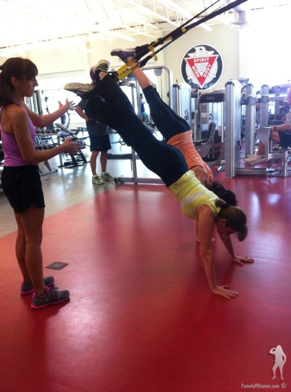 Working on a stronger core with TRX classes! Have you tried it? #fitness