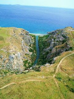 On the way to Preveli beach in Rethymno, Crete