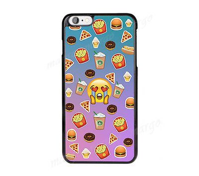 New Emoji Emoticon Fast Food Burger Starbucks Case Cover for iPhone Samsung Sony