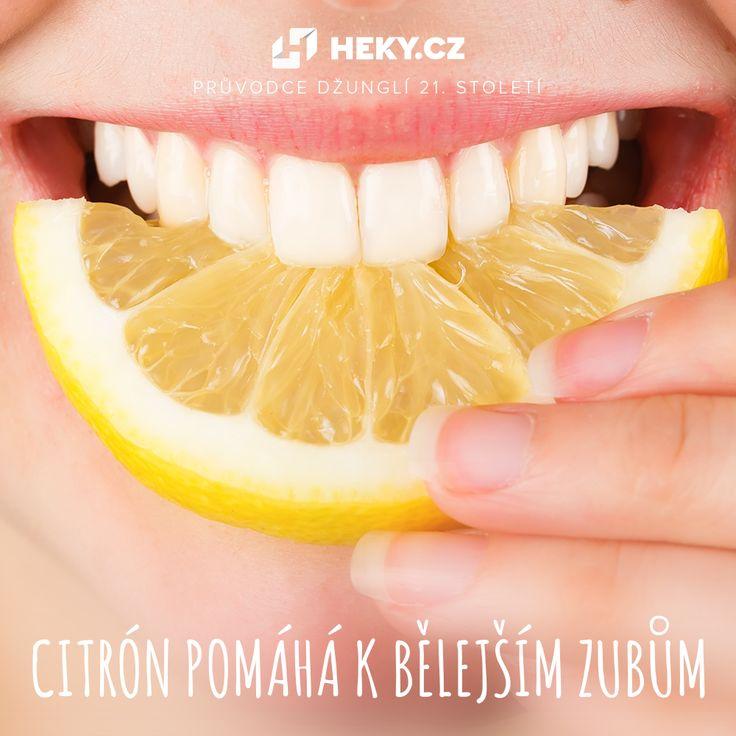 Bílé a zdravé zuby? Pomůže vám citrónová šťáva či sůl