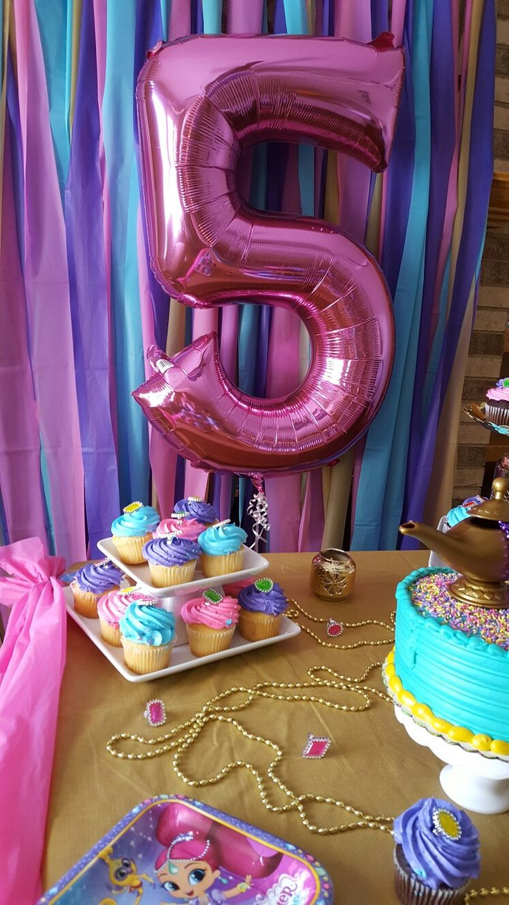 Shimmer And Shine Bday 5th Birthday Party Ideas Shimmer