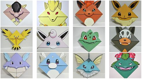 I came across these bookmarks quite by accident the other day (while searching for Electabuzz plushies, but that's another story). The bookmarks have the Pokemon's face on the front, their tail or ...