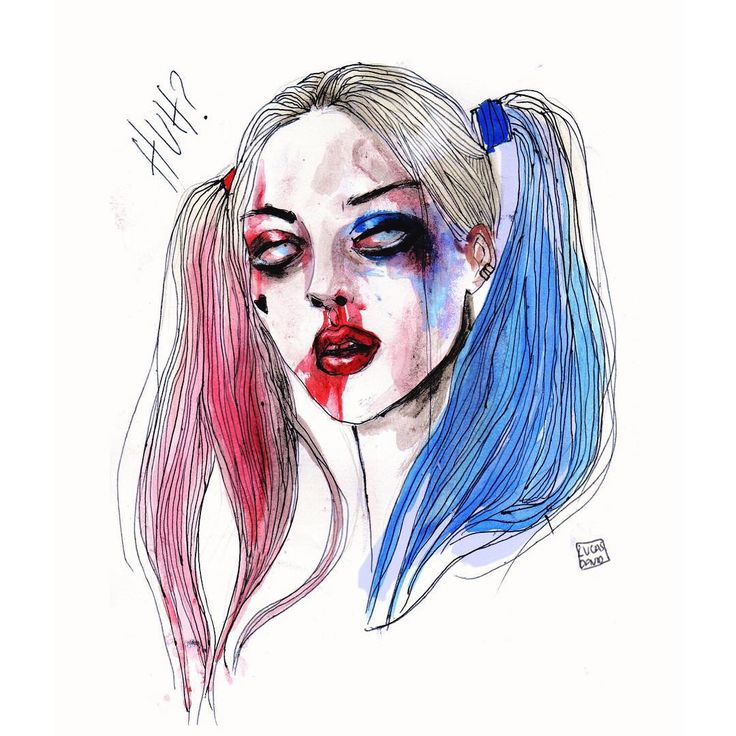 """Lucas David on Instagram: """"My art of margot robbie as harley quinn / suicide squad #harleyquinn #suicidesquad"""""""